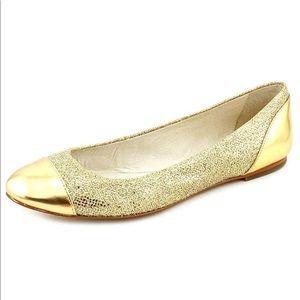 Michael Kors Shala Gold Glitter Ballet Flats